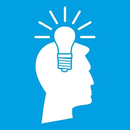 Light bulb idea icon white