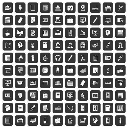 disk break: 100 work space icons set black