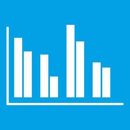 Financial analysis chart icon white