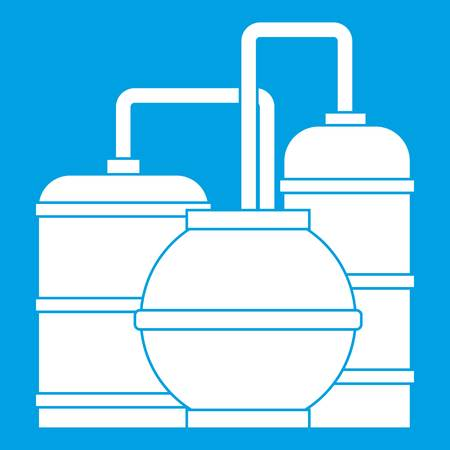 Gas storage tanks icon white