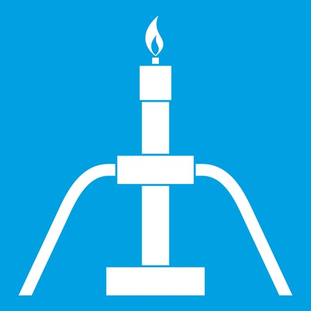 flaring: Gas flaring icon white Illustration