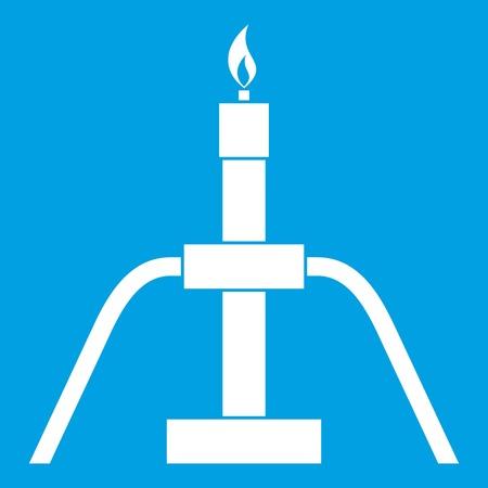 Gas flaring icon white Illustration