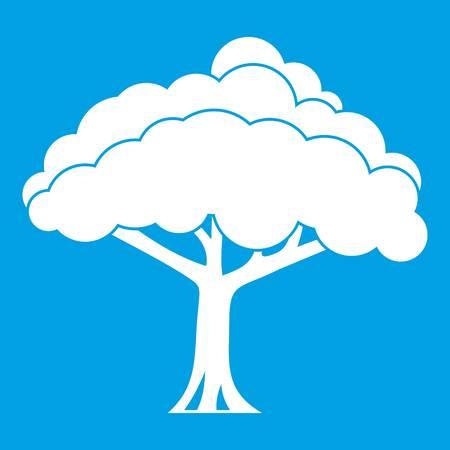 Tree icon white