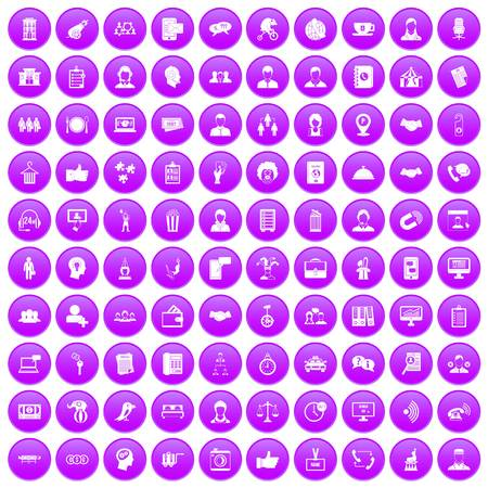 coherence: 100 coherence icons set purple