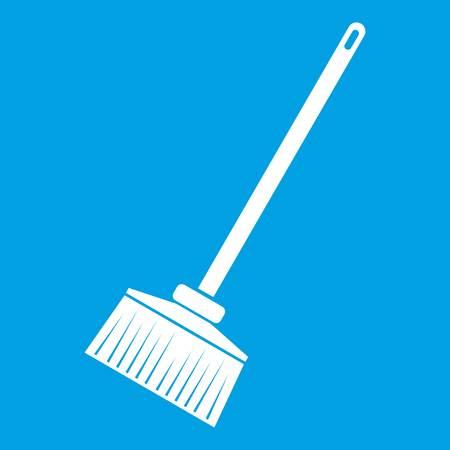 besom: Broom icon white Illustration