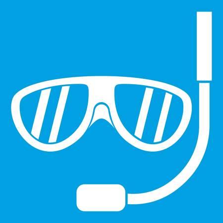 swimming glasses: Swimming mask icon white