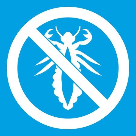 No louse sign icon white