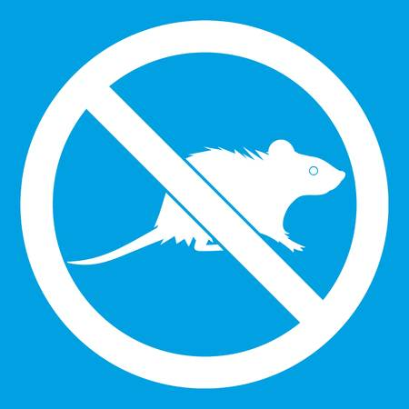 No rats sign icon white
