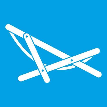 beatitude: Beach chaise icon white Illustration