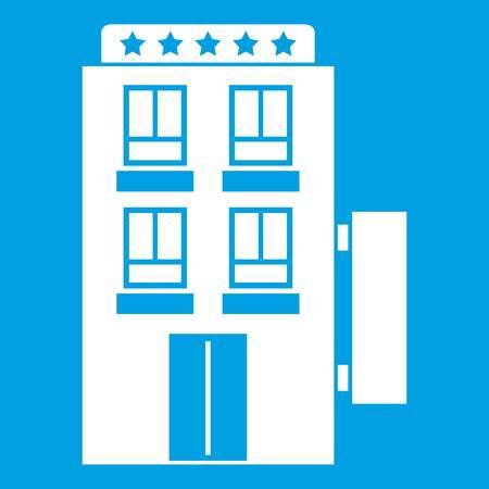 five star: Five star hotel icon white