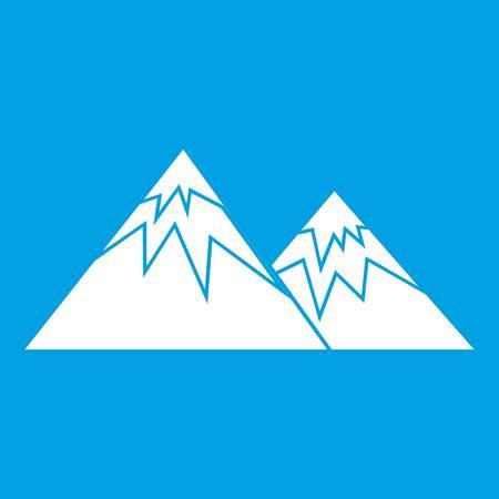 Swiss alps icon white