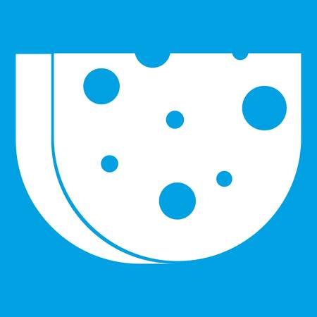 Piece of Swiss cheese icon white
