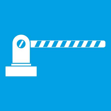Parking barrier icon white Illustration