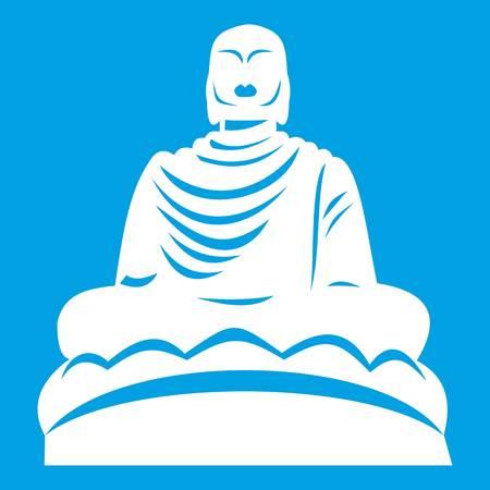 White buddha statue icon