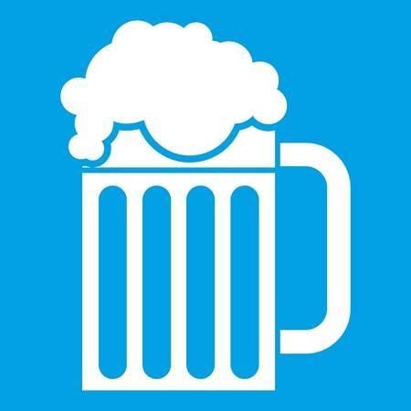 Beer mug icon white