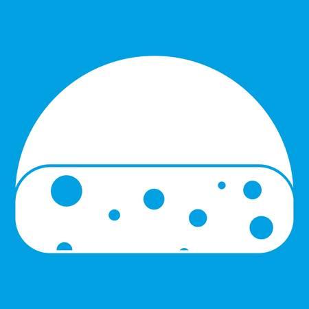Dutch cheese icon white Illustration