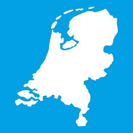 Holland map icon white