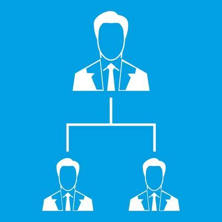 Company structure icon white Illustration