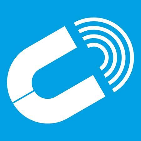 Horseshoe magnet icon white