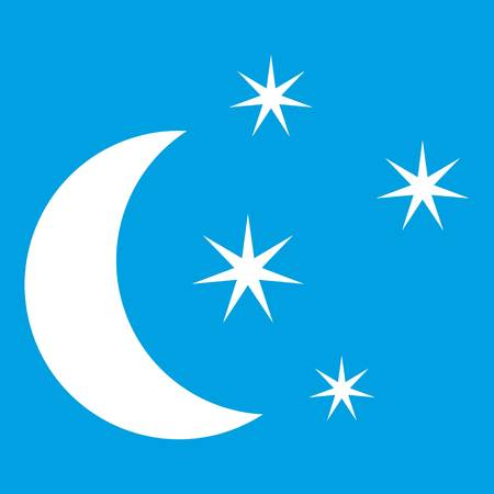 Moon and stars icon