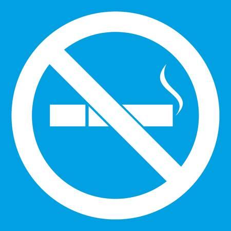 No smoking sign icon white