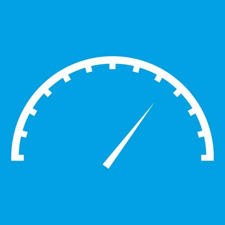 Speedometer icon white Illustration