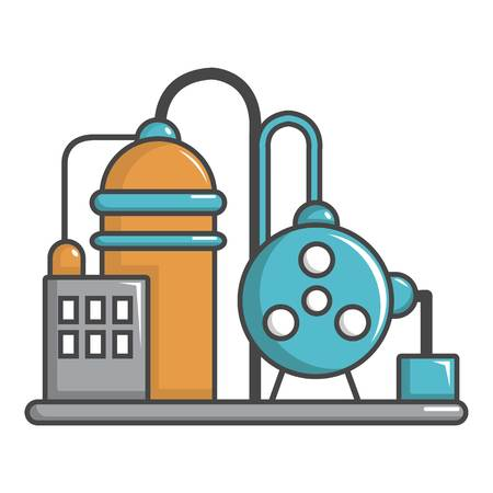 Industrial abstract machine icon, cartoon style