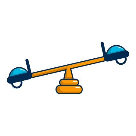 See saw icon, cartoon style