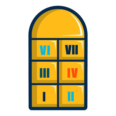 Hopscotch game icon, cartoon style