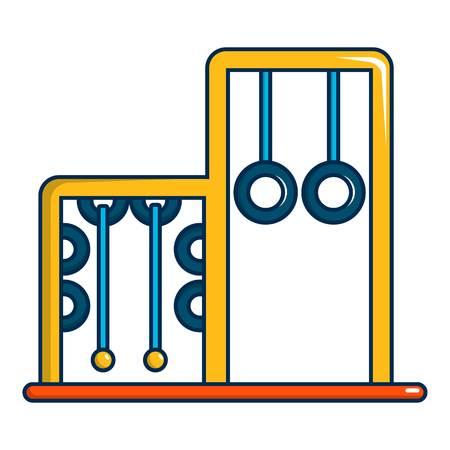 spring balance: Park playground equipment rings icon