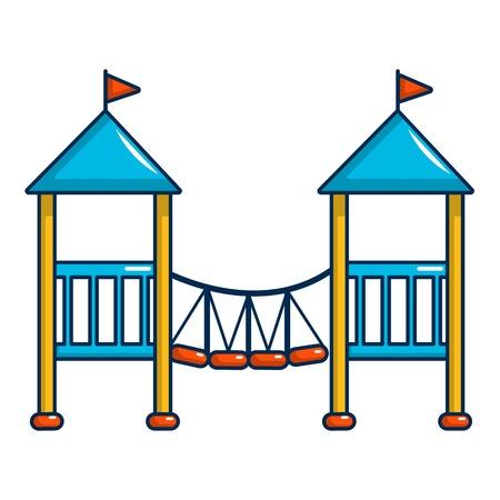 Two castle kid icon, cartoon style Illustration