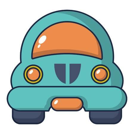 Toy car icon, cartoon style