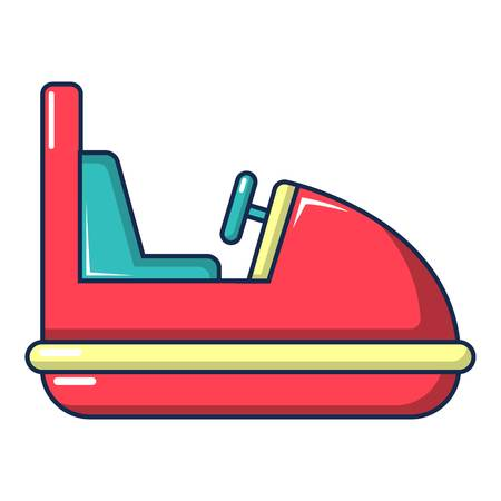 Amusement park bumper car icon, cartoon style Illustration