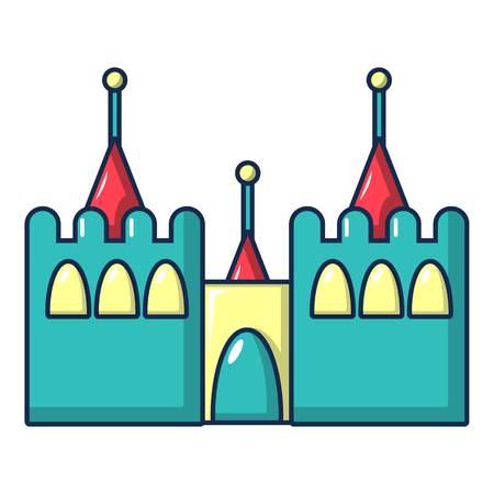 Bouncy castles icon, cartoon style