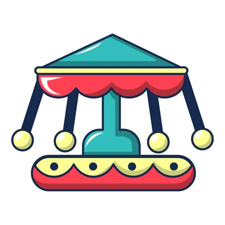 turnabout: Carousel icon, cartoon style