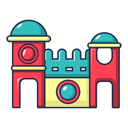 Bounce house icon, cartoon style