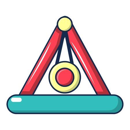 pendulum: Attraction pendulum icon, cartoon style