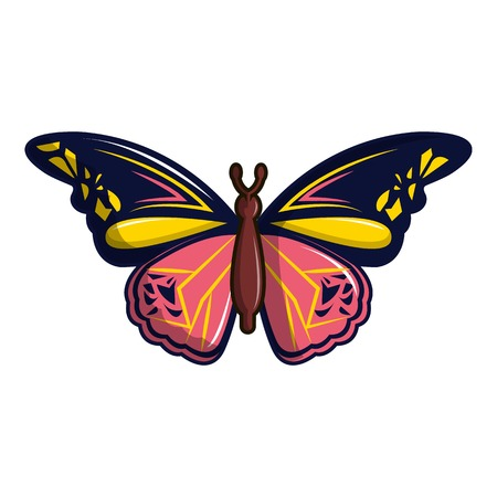 Wandered butterfly icon, cartoon style