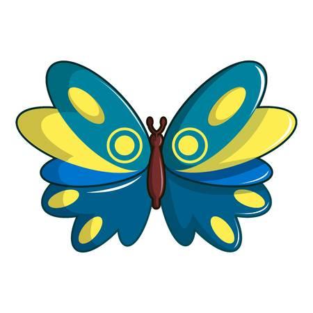 Butterfly papilio zagreus icon, cartoon style