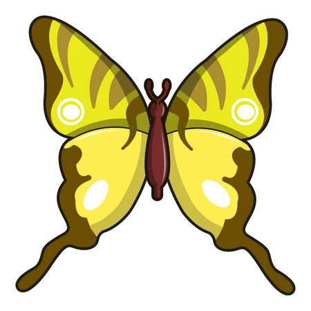 Iphiclides podalirius butterfly icon Illustration