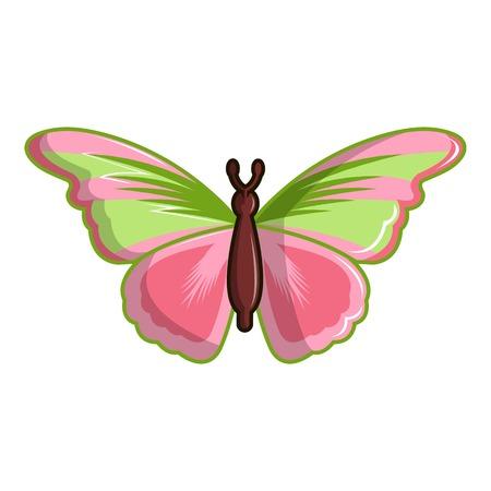 Esmeralda butterfly icon, cartoon style