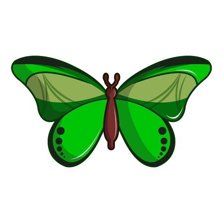 Butterfly great mormon icon, cartoon style Illustration