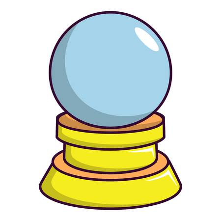 Magic crystal ball icon, cartoon style Illustration