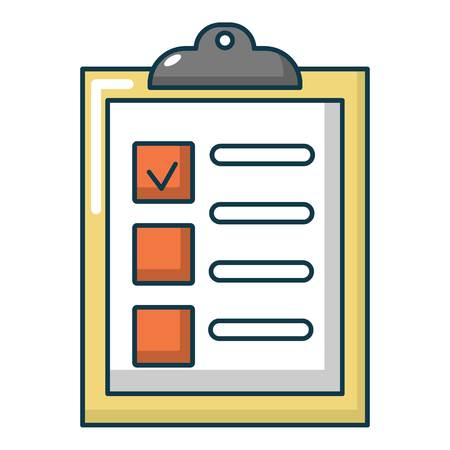 List of repair works icon, cartoon style