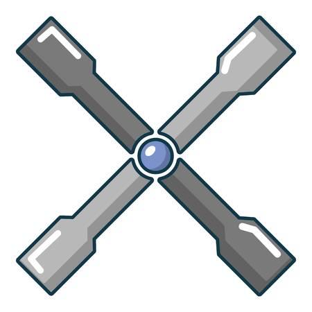 Wheel brace icon, cartoon style