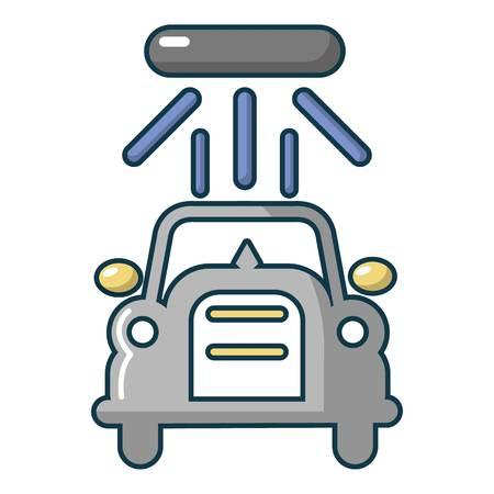 Web デザインのための洗車ベクトル アイコンの漫画イラスト  イラスト・ベクター素材