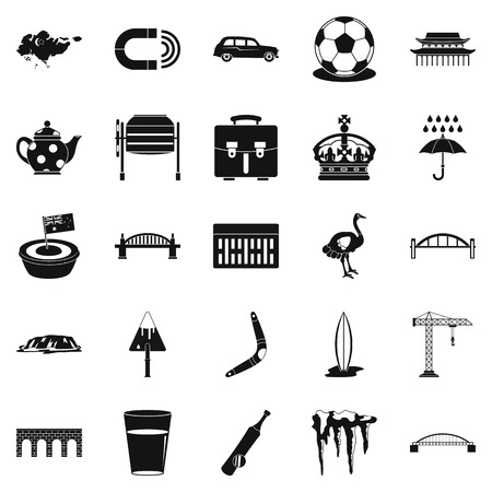 Relocation icons set. Simple set of 25 relocation vector icons for web isolated on white background