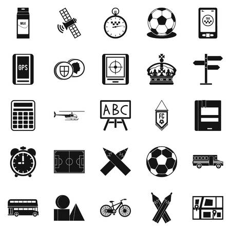 Motorbus icons set. Simple set of 25 motorbus vector icons for web isolated on white background