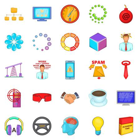 Commercialist icons set. Cartoon set of 25 commercialist vector icons for web isolated on white background Illustration