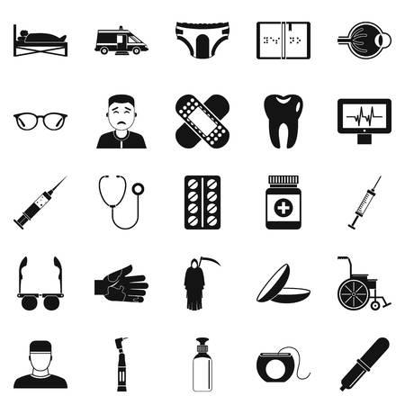 Impostazione di icone di parenti. Set semplice di 25 cura di parenti vettore icone per il web isolato su sfondo bianco